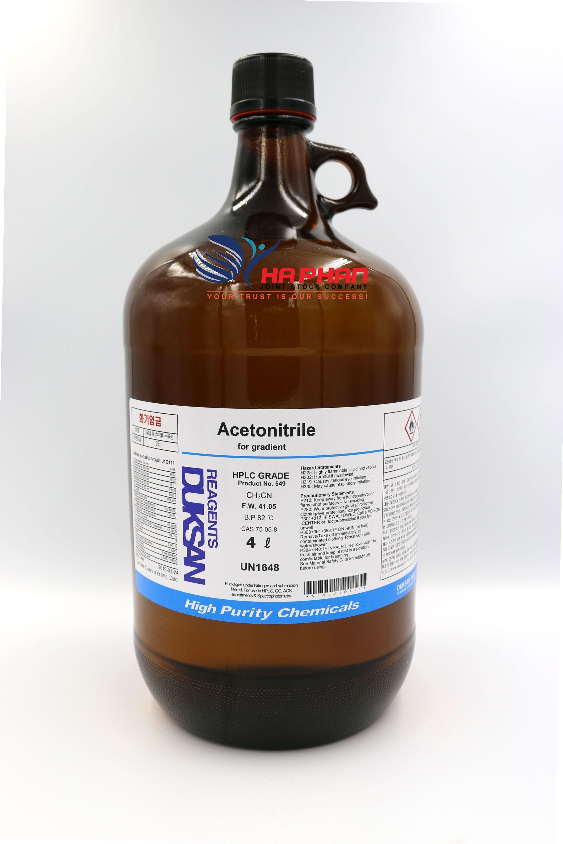 Acetonitrile HPLC  DSP 4 ℓ
