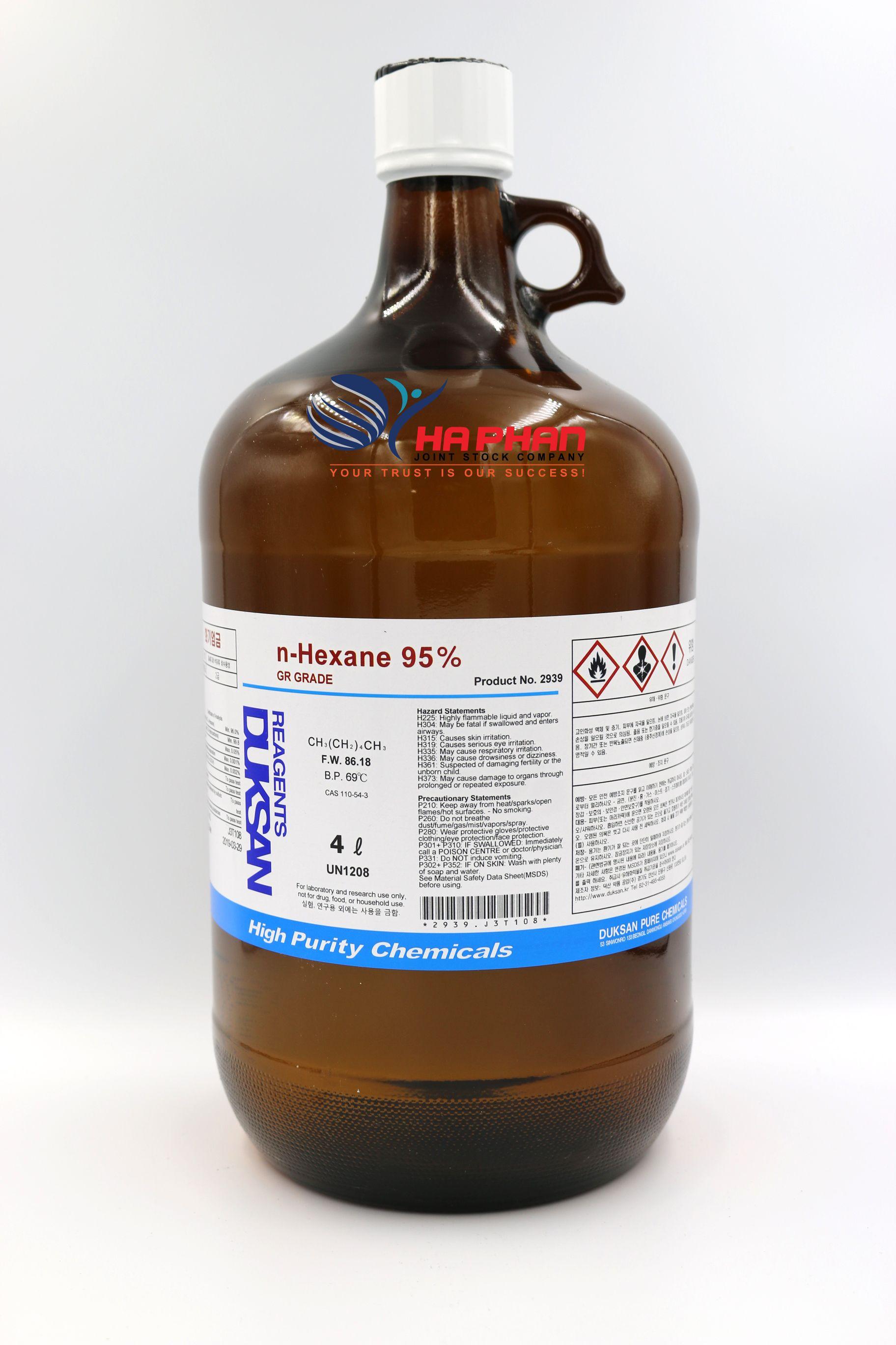 n-Hexane 95% GR  DSP 4 ℓ