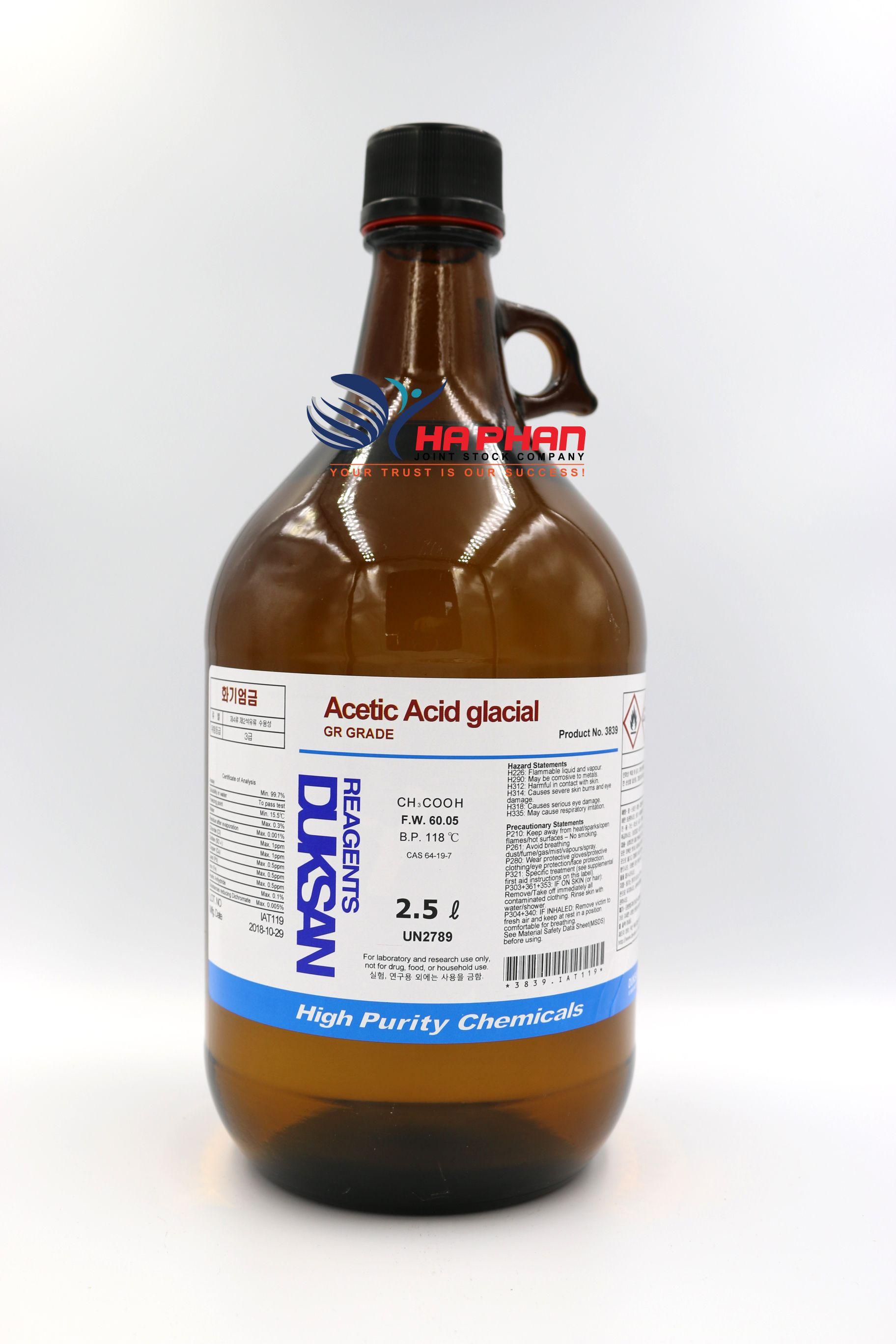 Acetic Acid glacial GR  DSP 2.5 ℓ